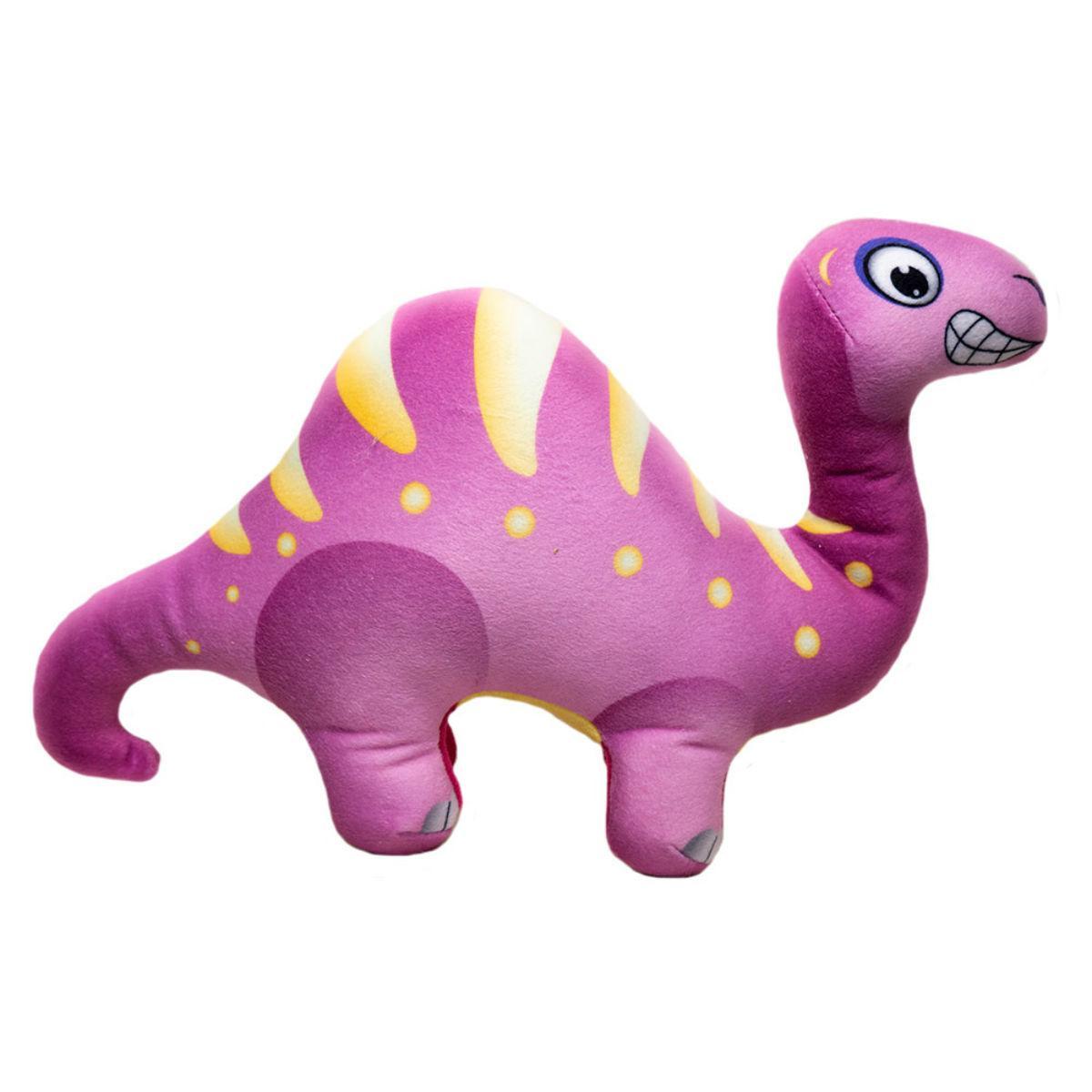 Happy Tails Doodles Dinosaur Dog Toy - Purple