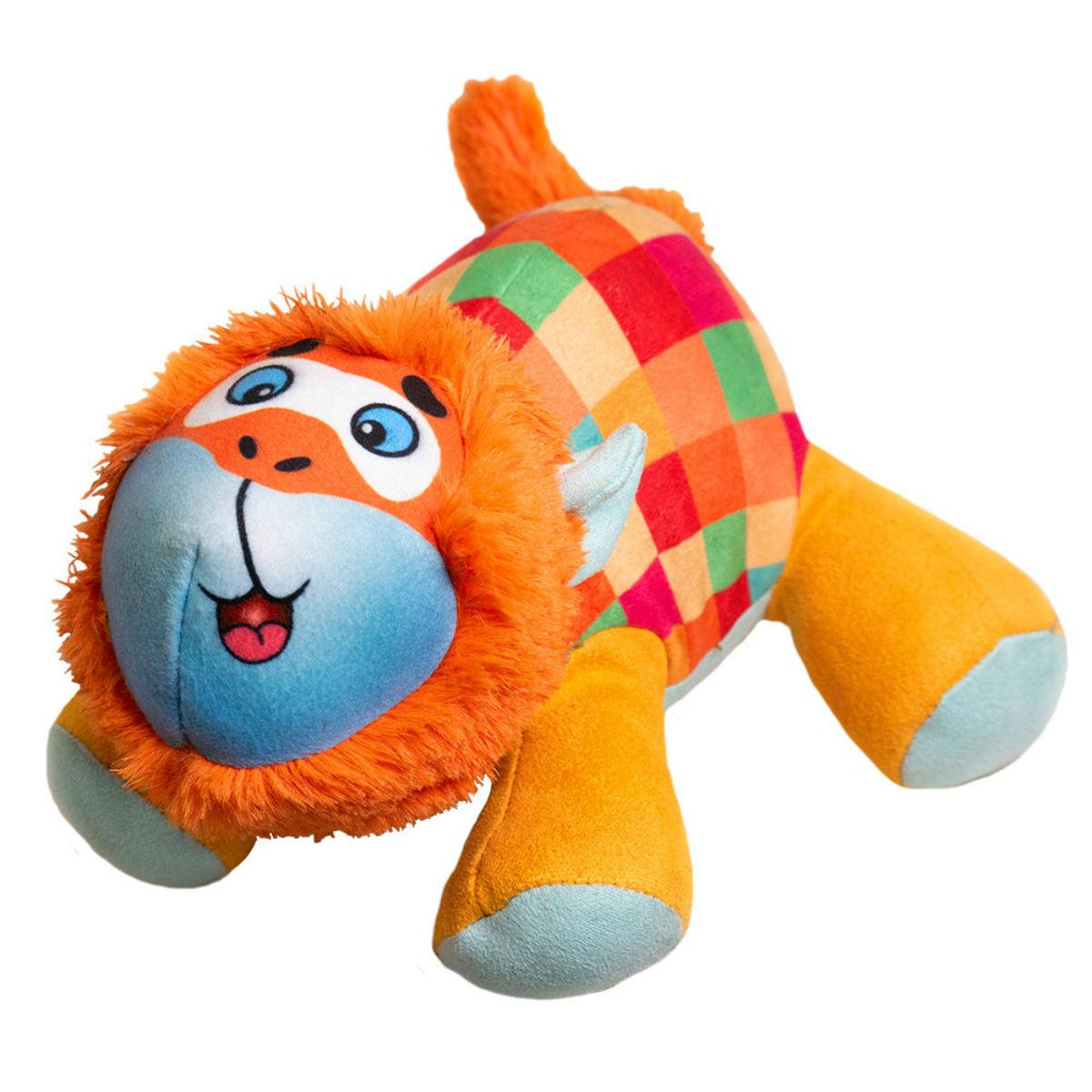 Happy Tails Doodles Dog Toy - Checkered Monkey