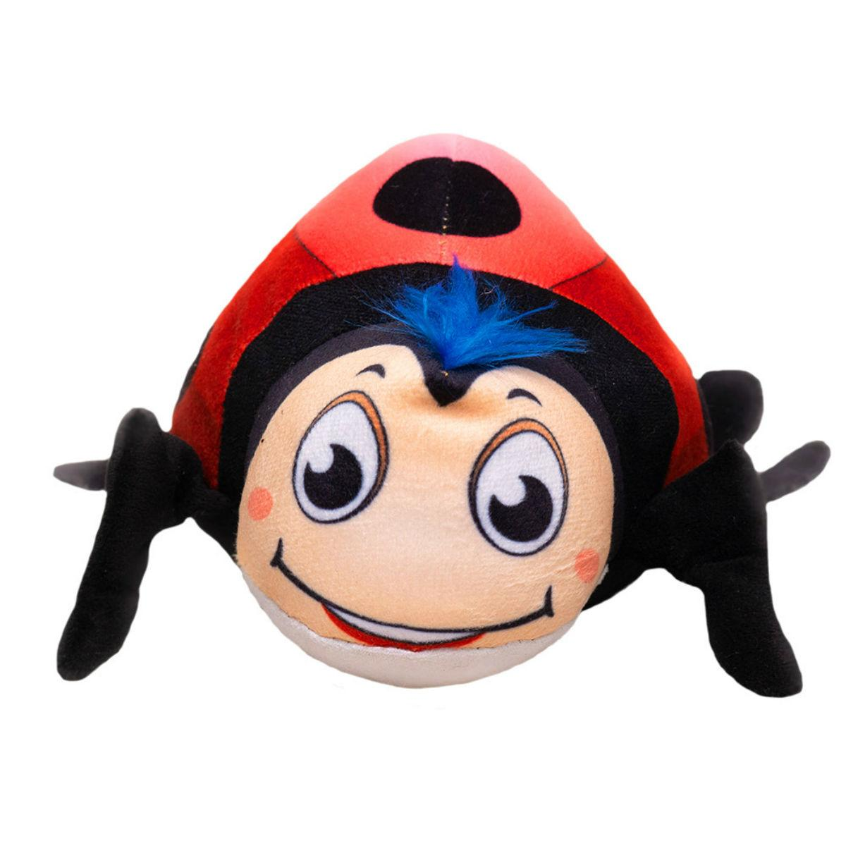 Happy Tails Doodles Plush Dog Toy - Ladybug