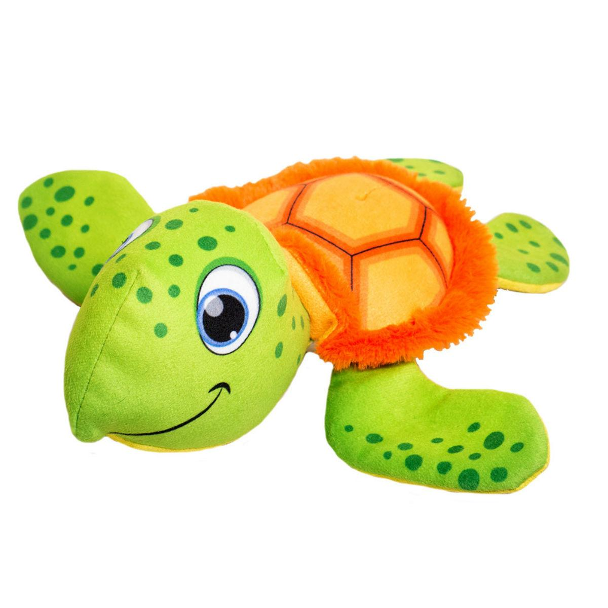 Happy Tails Doodles Plush Dog Toy - Turtle