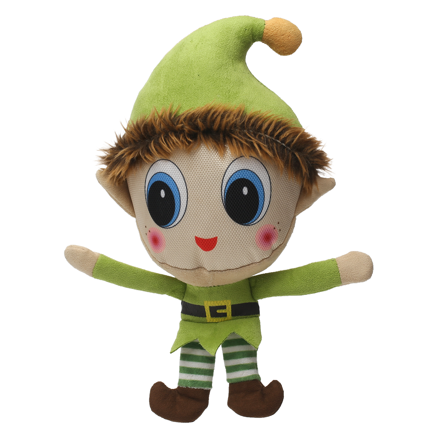 Happy Tails Holiday Durable Dog Toy - Happy Elf