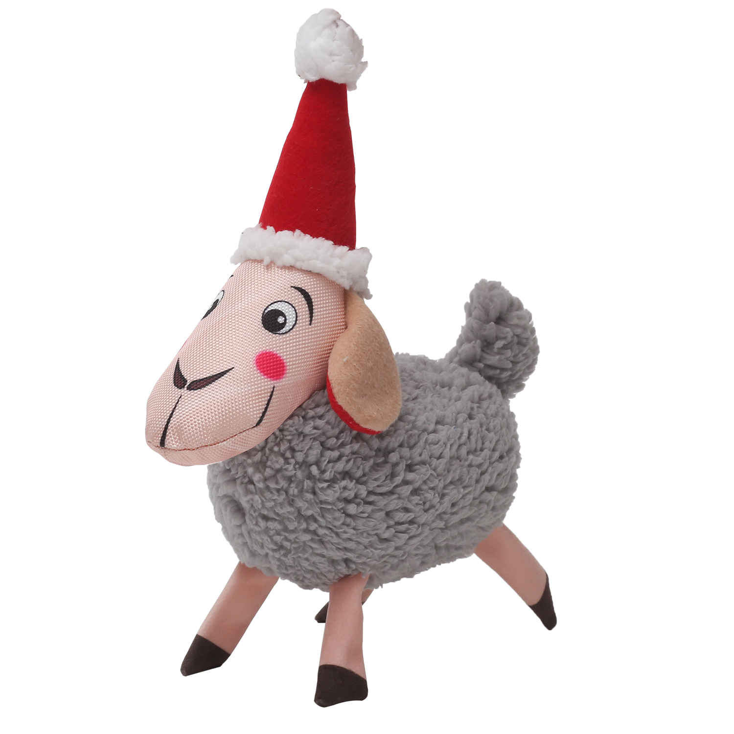 Happy Tails Holiday Durable Dog Toy - Sheep