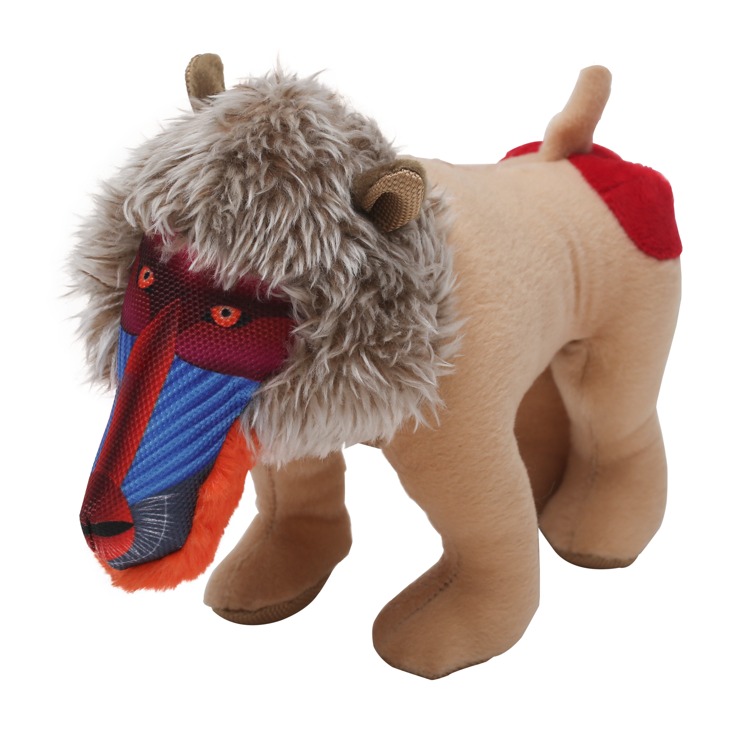 Happy Tails Loonies Durable Dog Toy - Baboon
