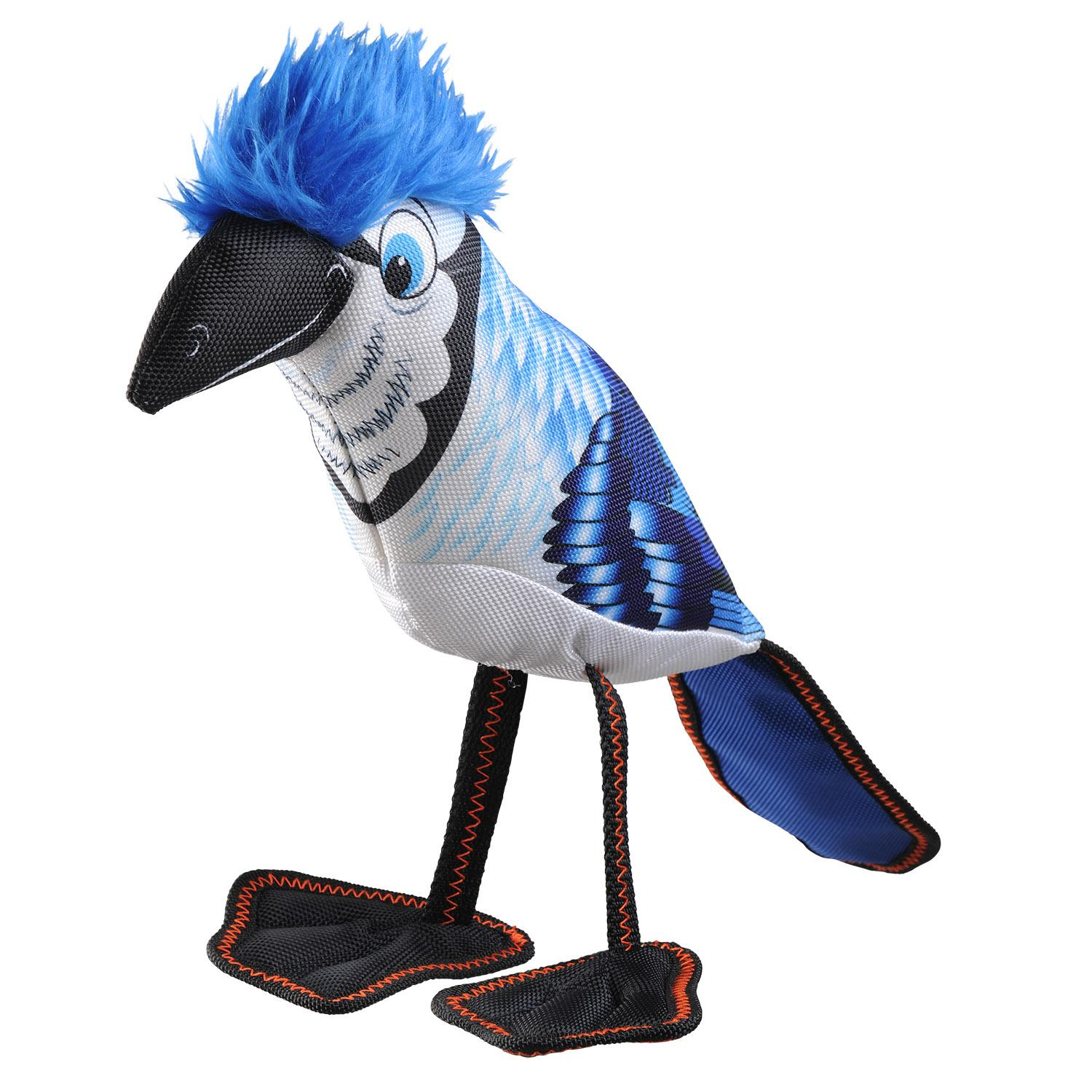 Happy Tails Loonies Durable Dog Toy - Blue Jay