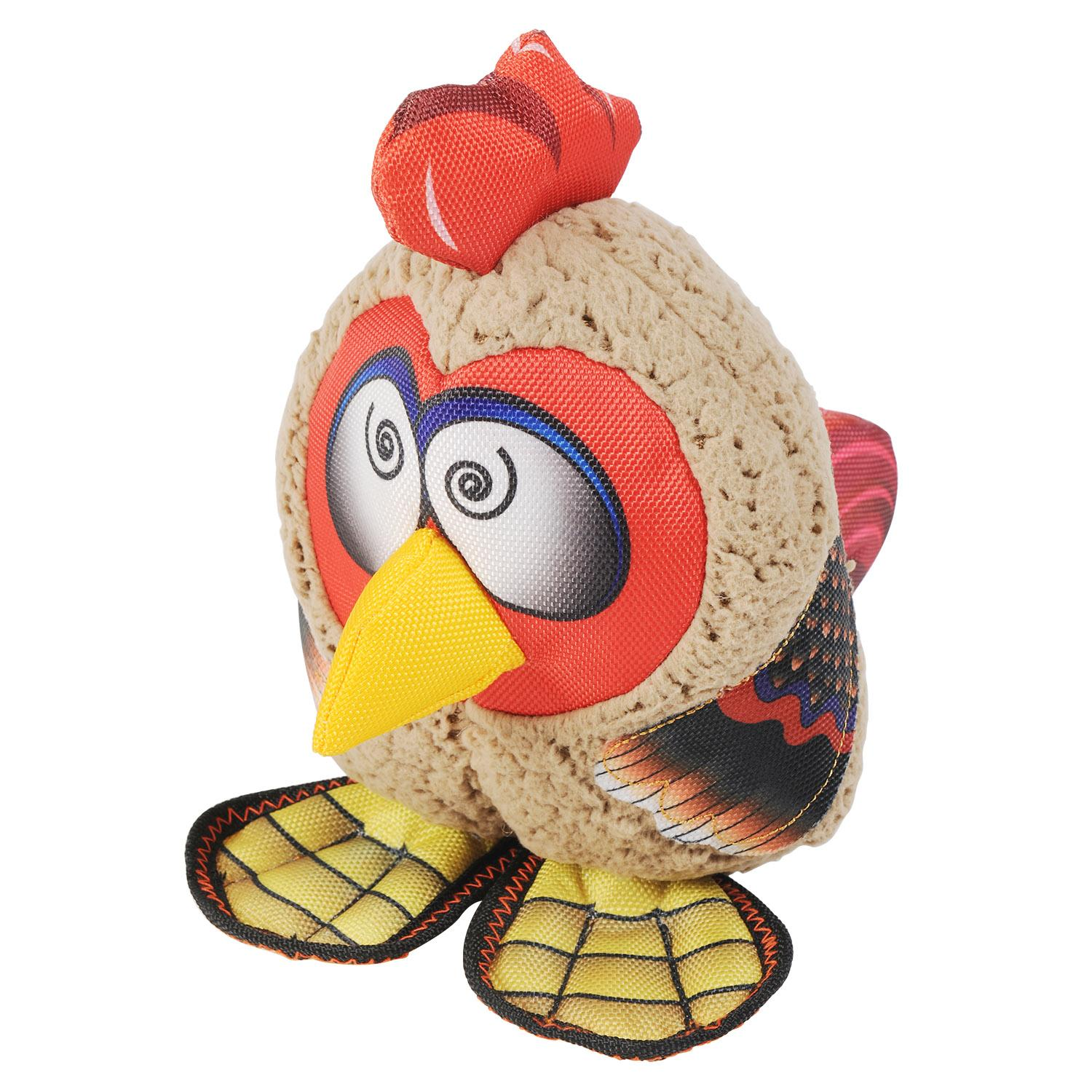 Happy Tails Loonies Durable Dog Toy - Zany Rooster