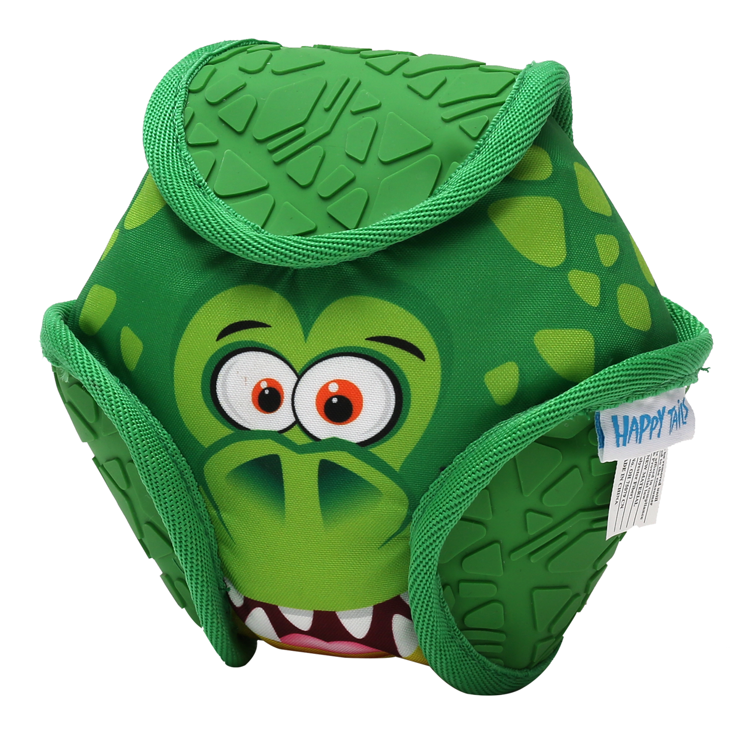 Happy Tails Loonies Play Durable Ball Dog Toy - Crocodile