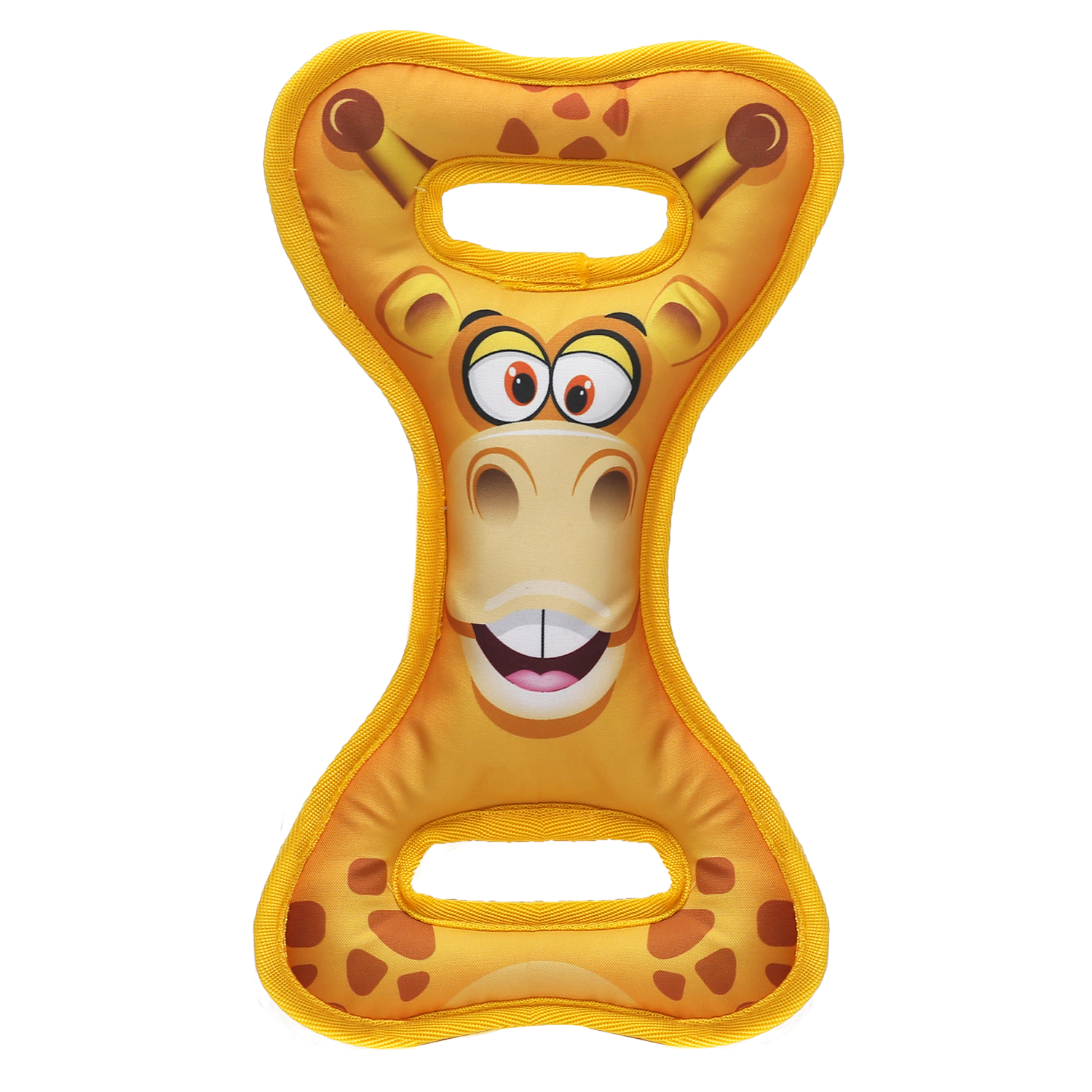 Happy Tails Loonies Tug N Play Durable Dog Toy - Giraffe