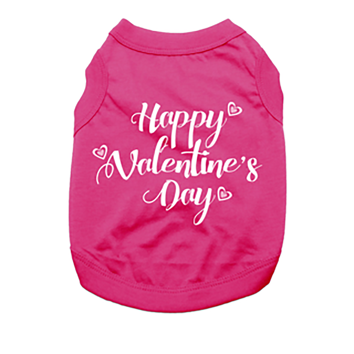 Happy Valentine's Day Dog Shirt - Bright Pink