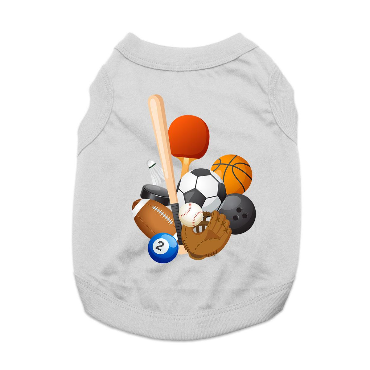 Sports! Dog Shirt - Gray