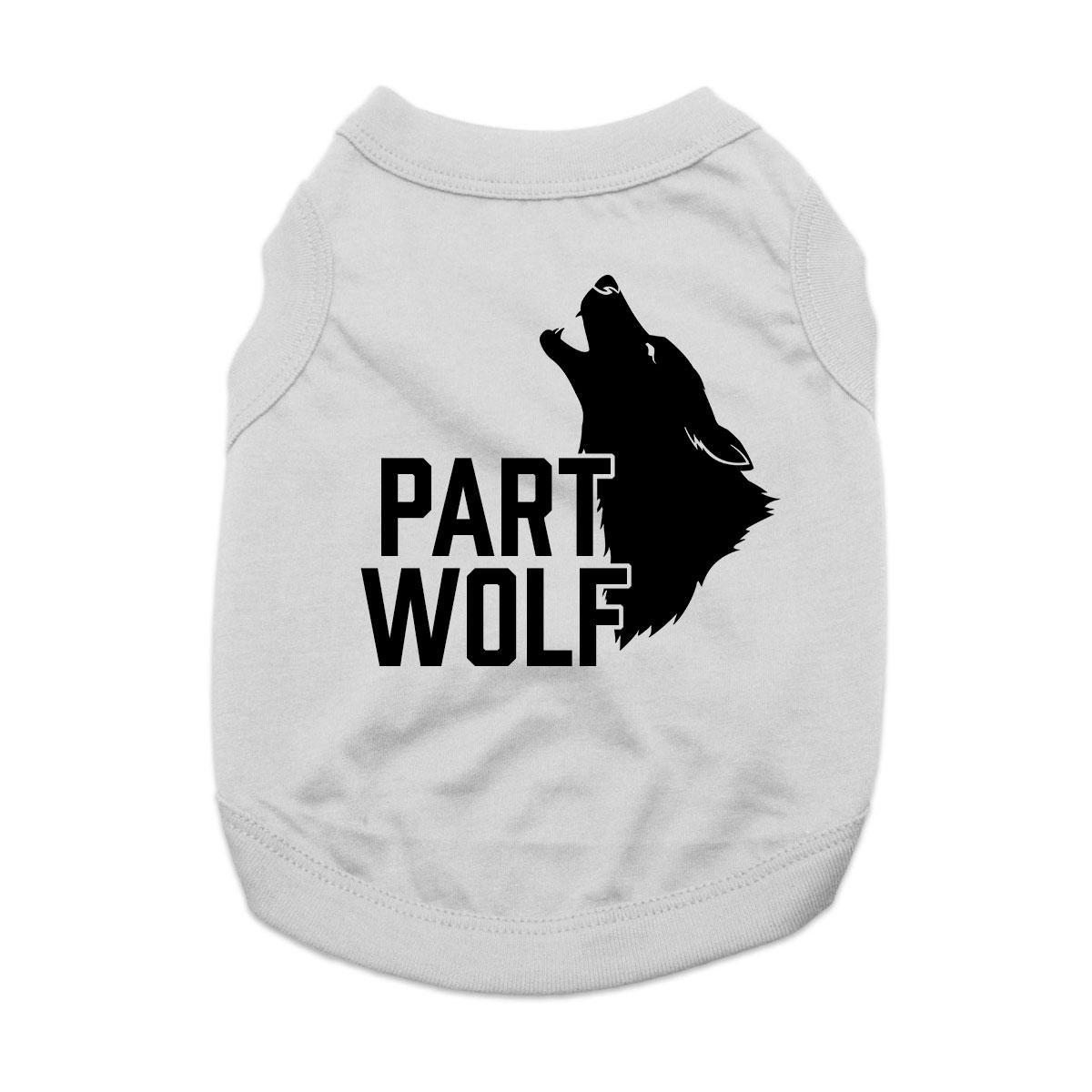 Part Wolf Dog Shirt - Gray