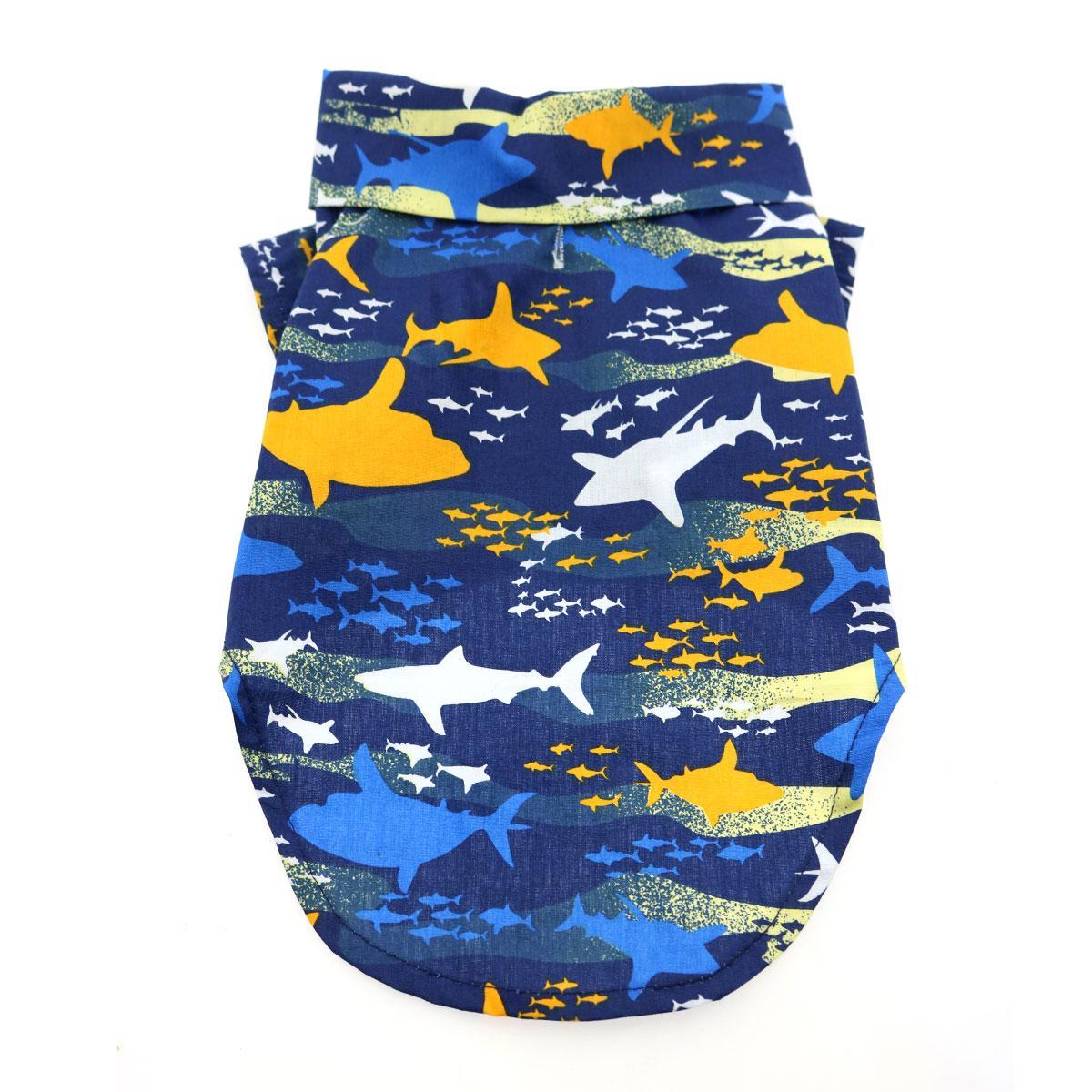 Hawaiian Camp Shirt by Doggie Design - Island Sharks