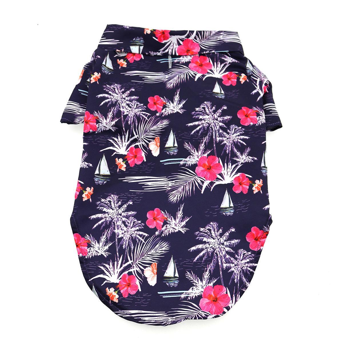 Hawaiian Camp Shirt by Doggie Design - Moonlight Sails
