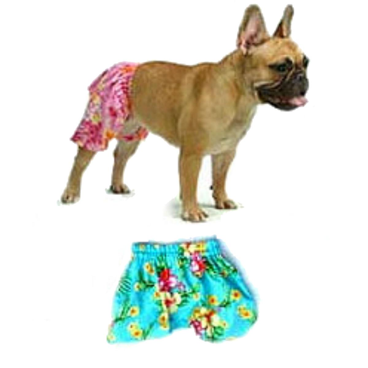Hawaiian Swim and Board Dog Trunks - Blue