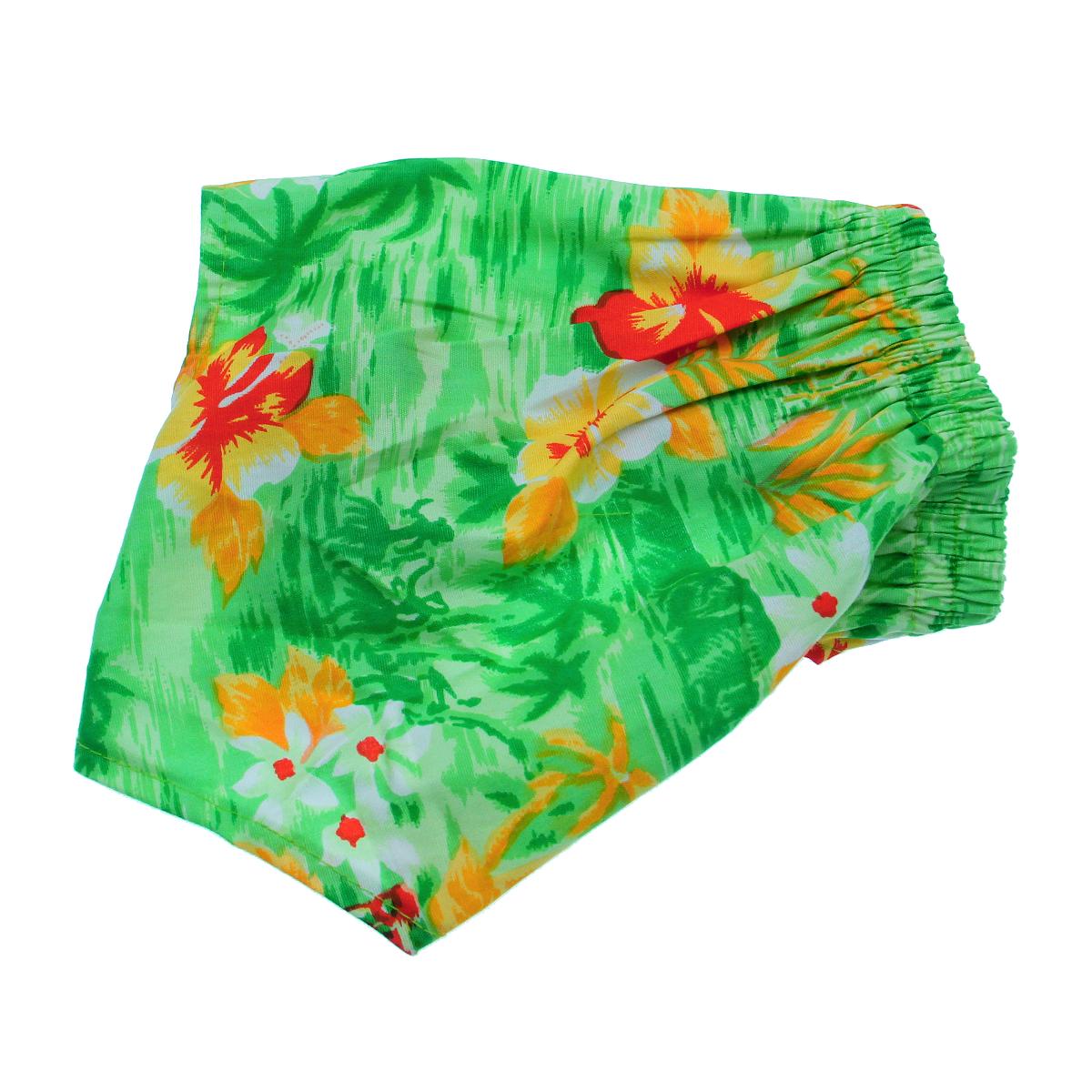 Hawaiian Swim and Board Dog Trunks - Green