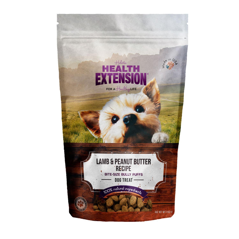 Health Extension Bully Puff Dog Treat - Lamb & Peanut Butter