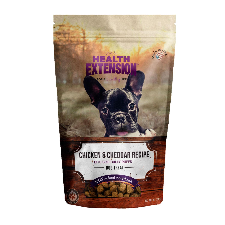 Health Extension Bully Puff Dog Treat - Chicken & Cheddar
