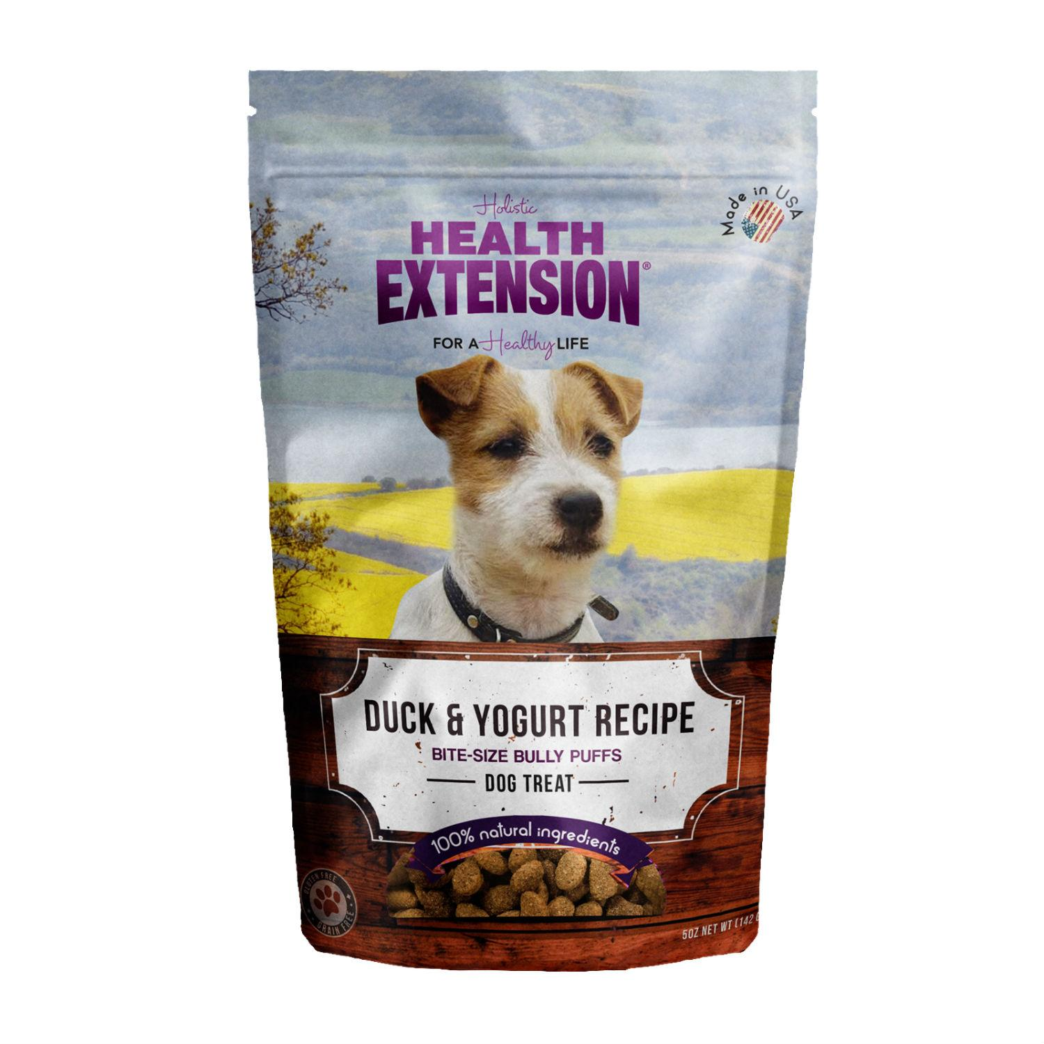 Health Extension Bully Puff Dog Treat - Duck & Yogurt