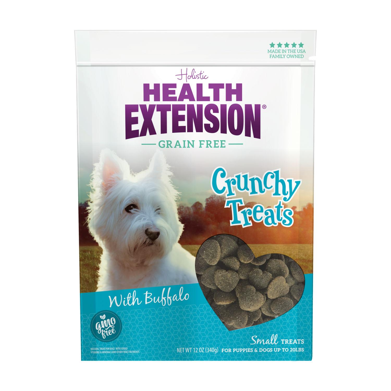 Health Extension Crunchy Heart Dog Treats - Buffalo