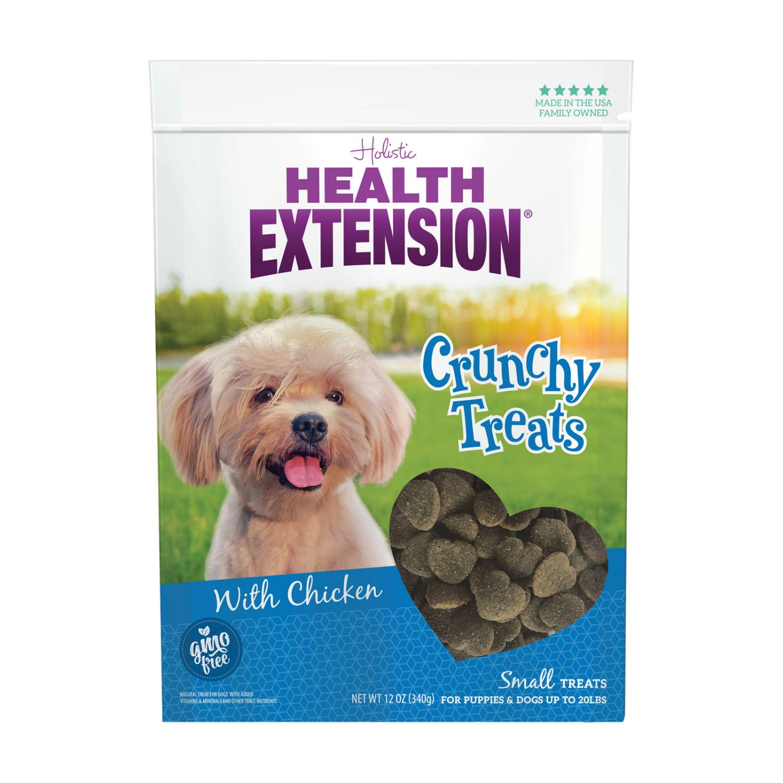 Health Extension Crunchy Heart Dog Treats - Chicken