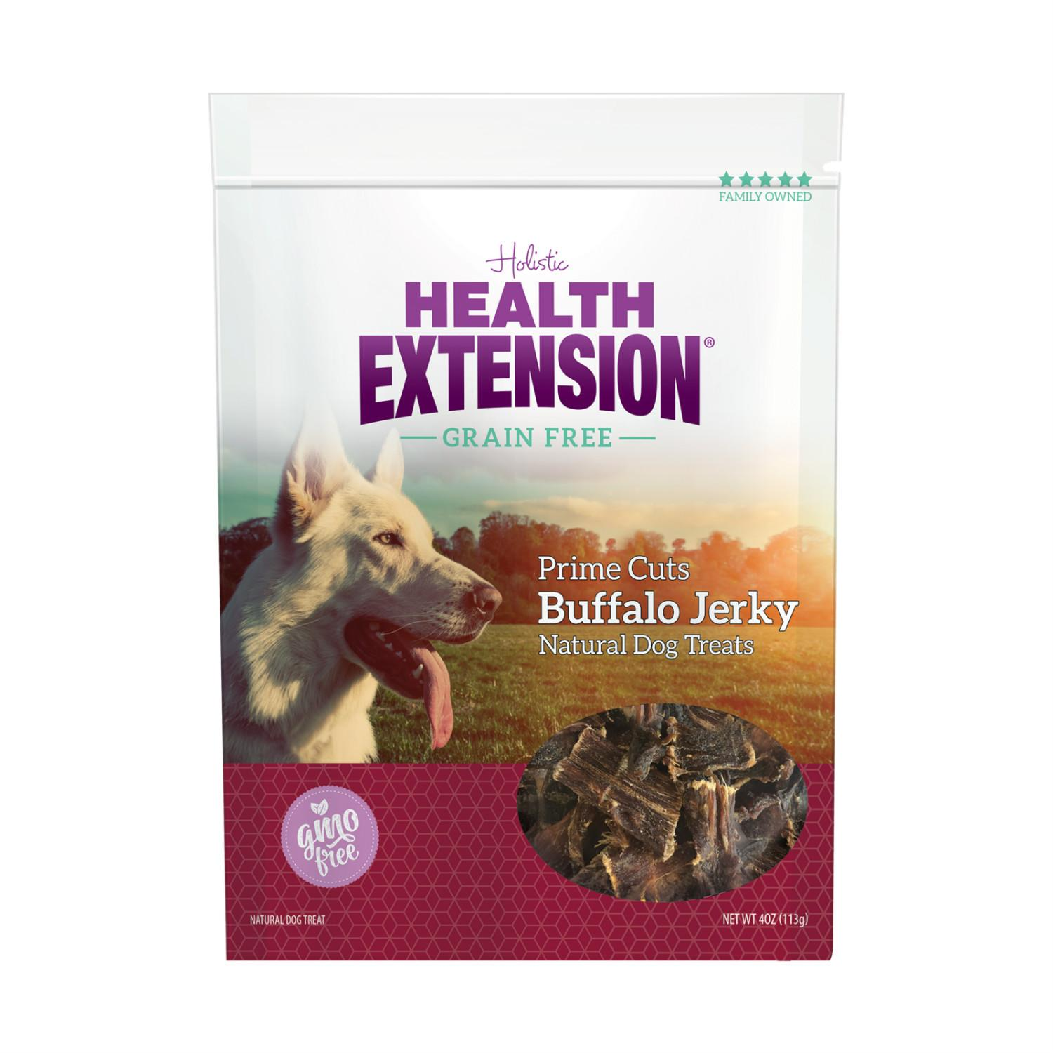Health Extension Grain Free Natural Dog Treats - Prime Cuts Buffalo Jerky