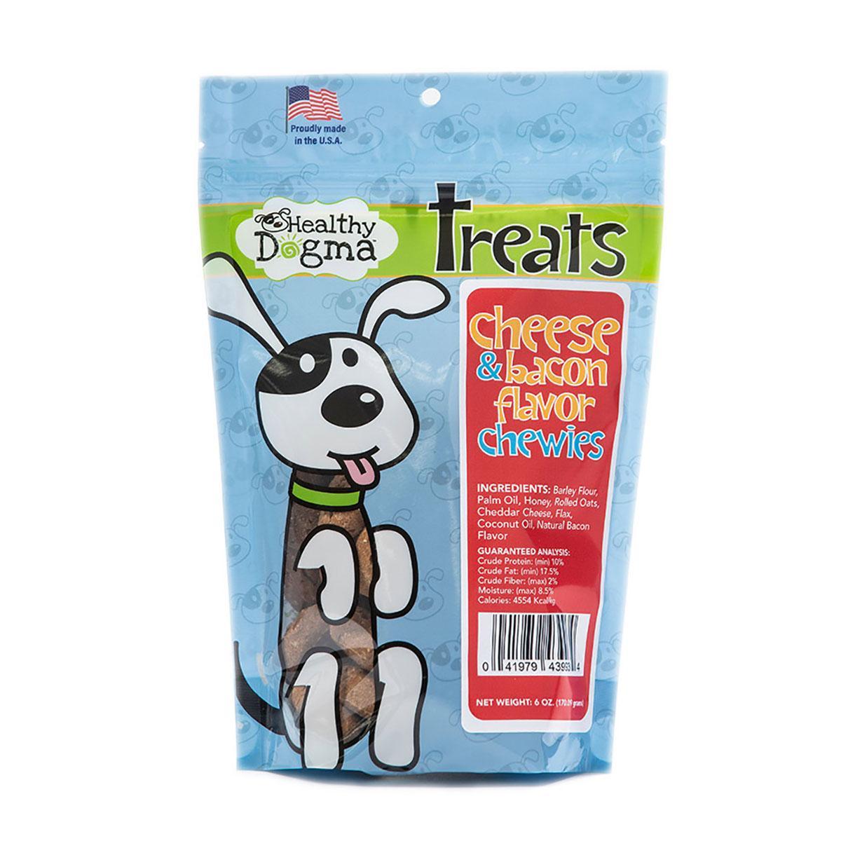 Healthy Dogma Cheese and Bacon Chewies Dog Treats