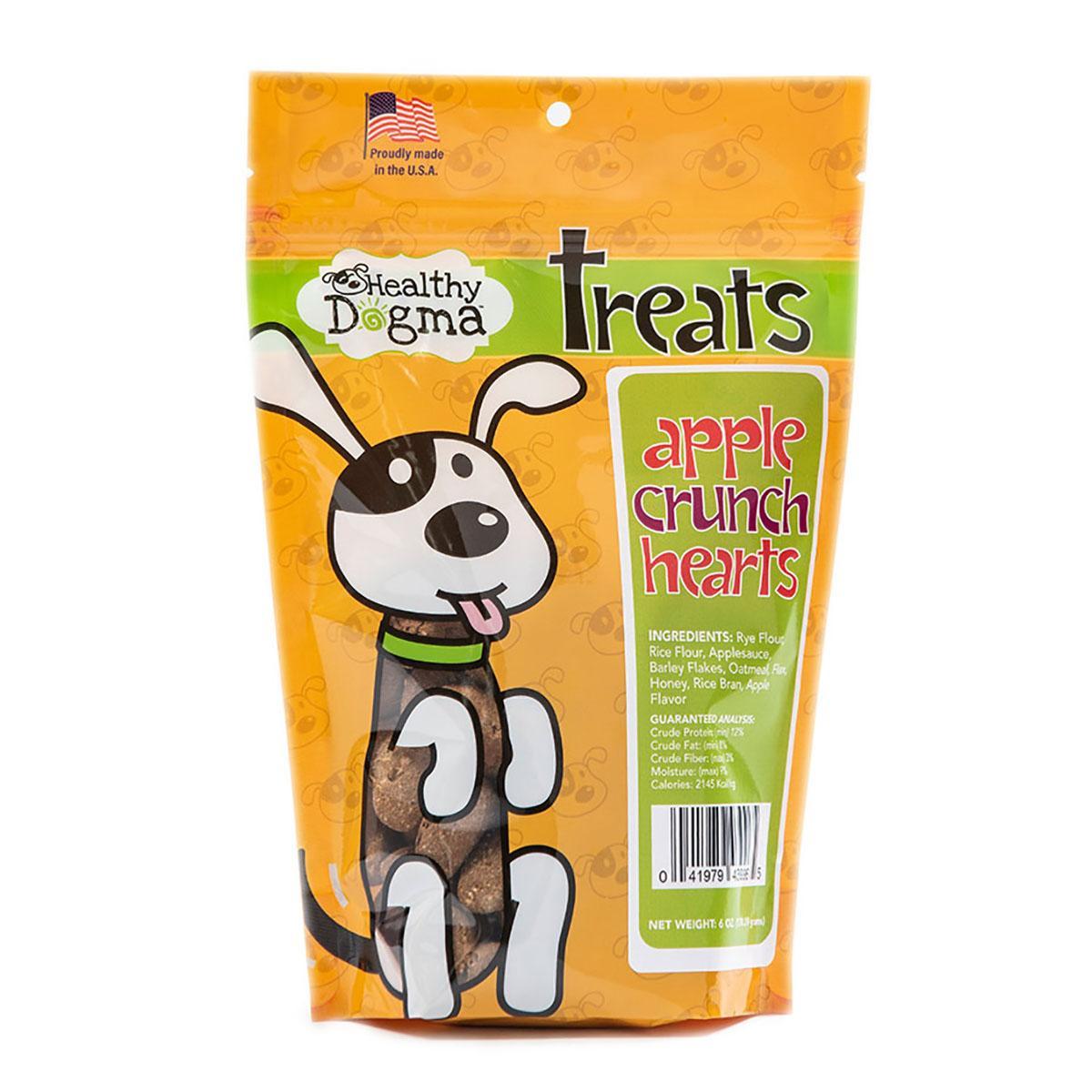 Healthy Dogma Apple Crunch Hearts Dog Treats