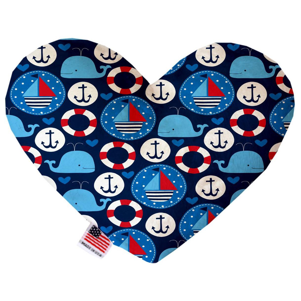 Heart Dog Toy - Anchors Away