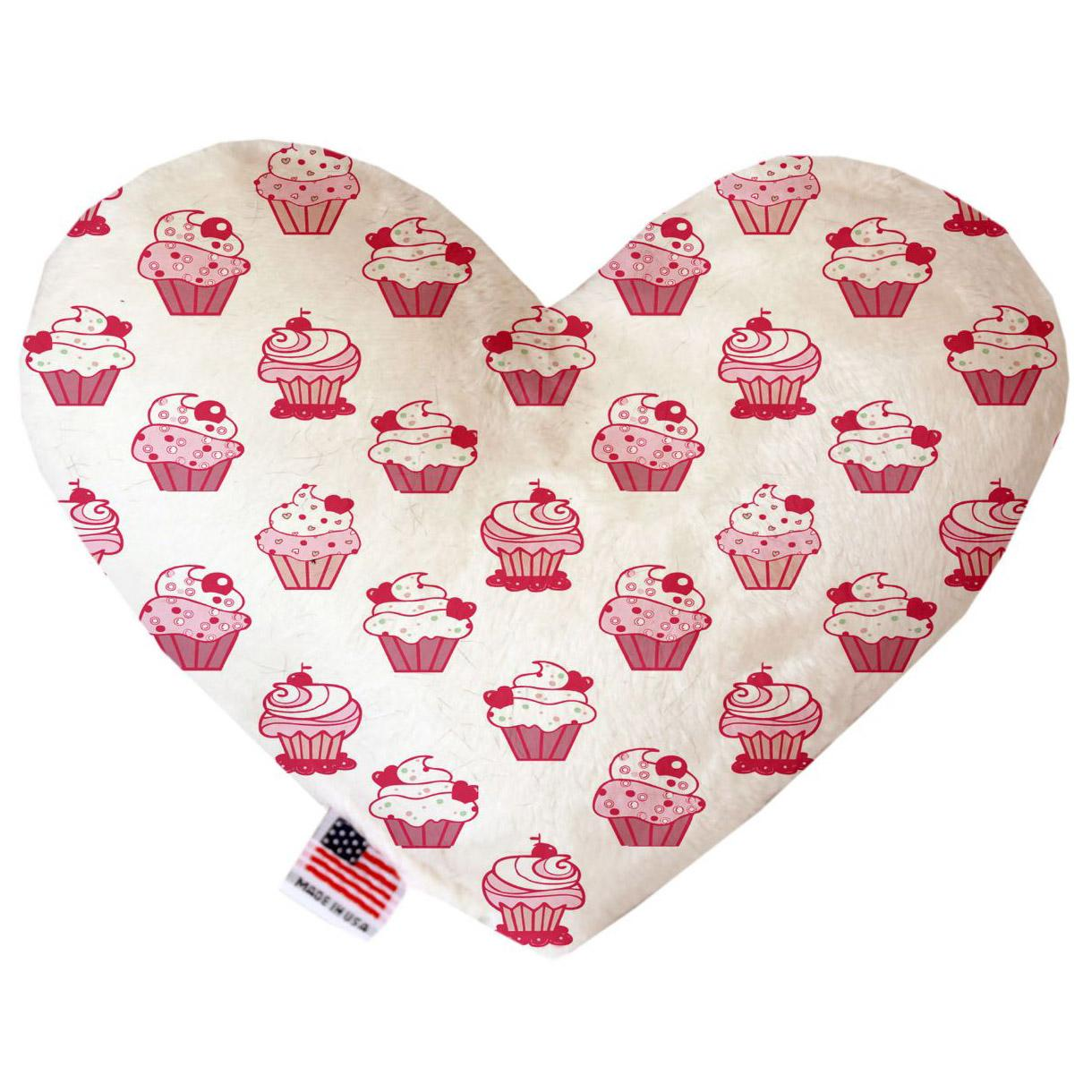 Heart Dog Toy - Pink Whimsy Cupcakes