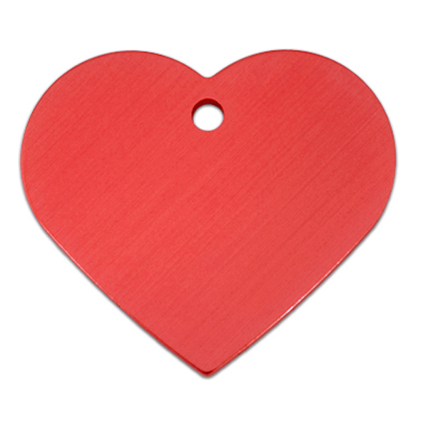 Heart Large Engravable Pet I.D. Tag - Red