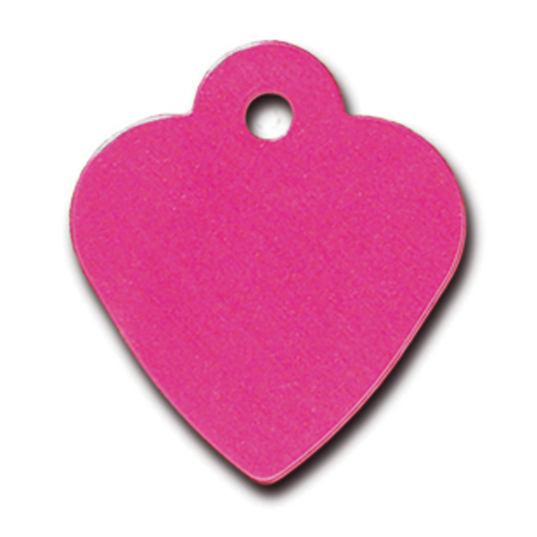 Heart Small Engravable Pet I.D. Tag - Pink
