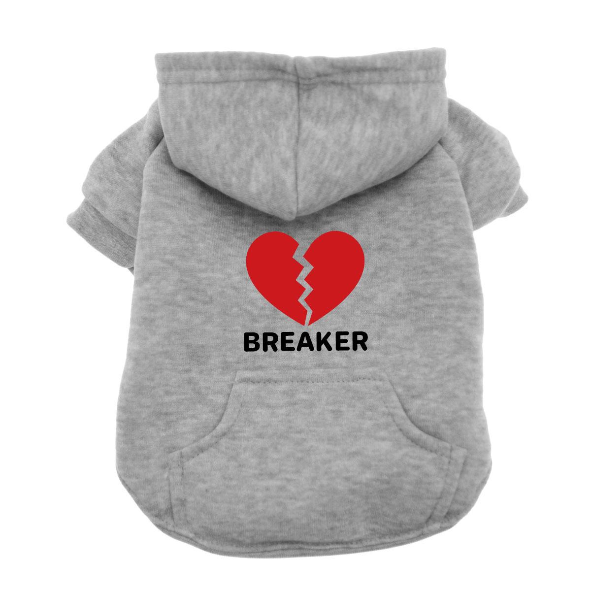 Heartbreaker Dog Hoodie - Gray