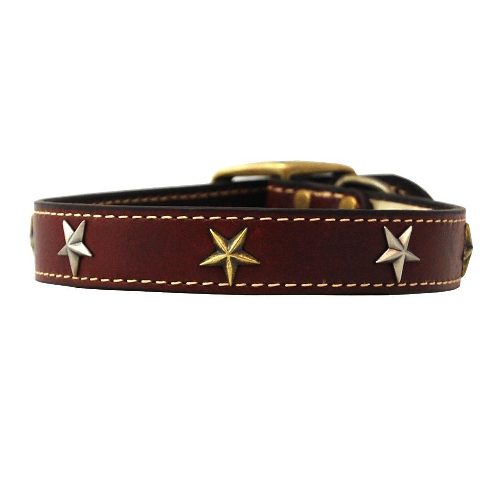 Heirloom Old Glory Dog Collar by Auburn Leathercrafters - Burgundy