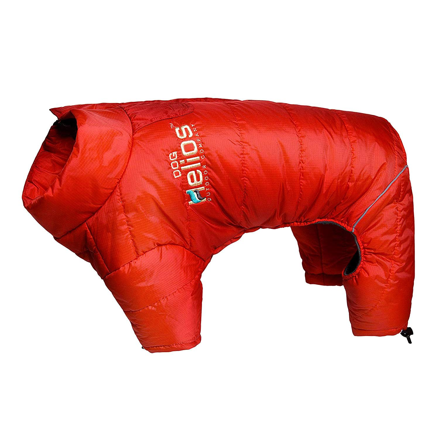 Helios Thunder Full-Body Dog Coat - Grenadine Red