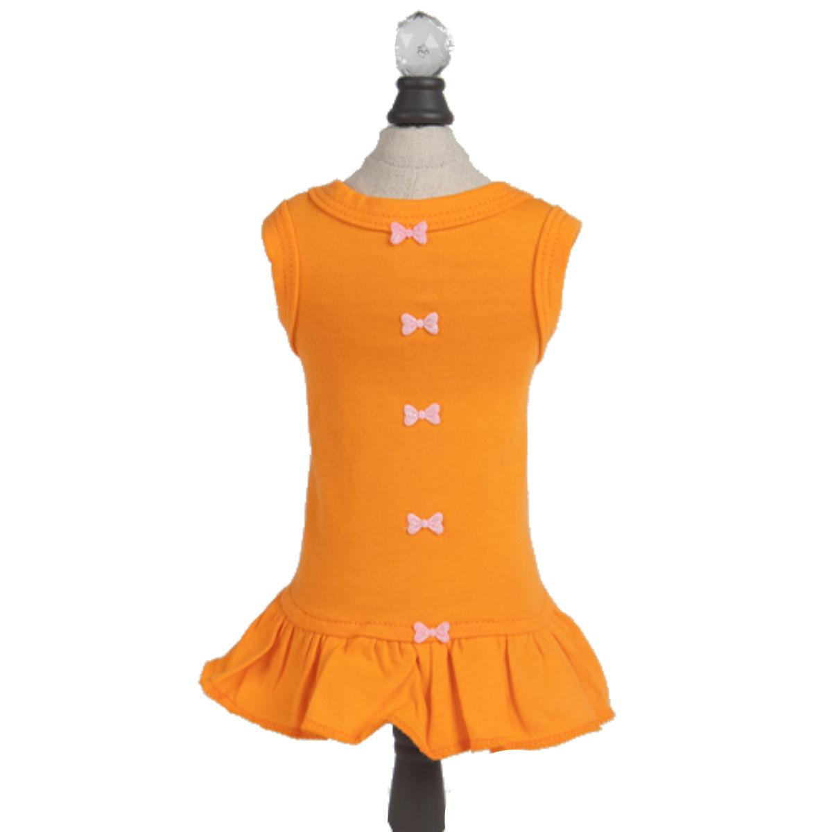 Hello Doggie Candy Dog Dress - Orange