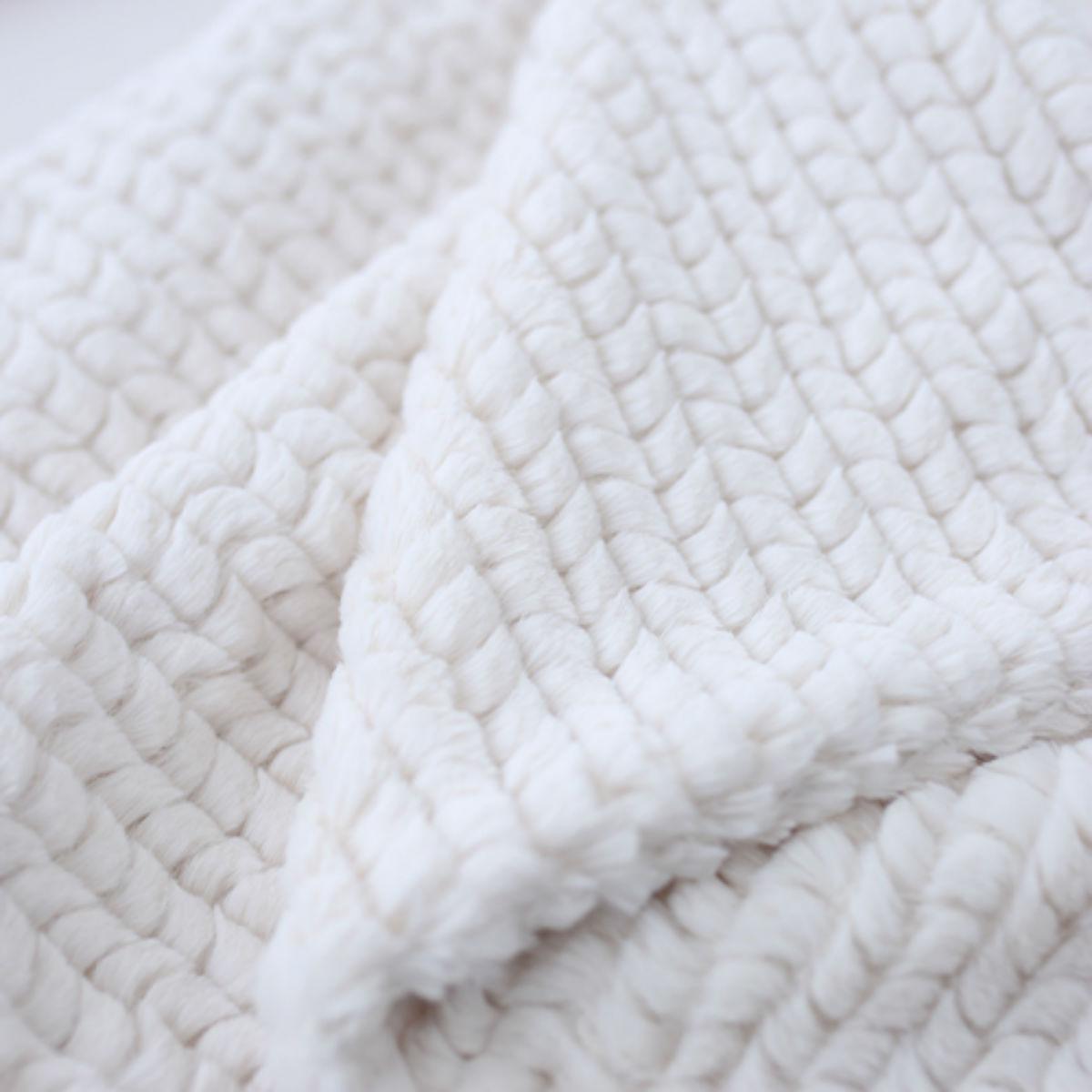 Hello Doggie Paris Dog Blanket - Ivory
