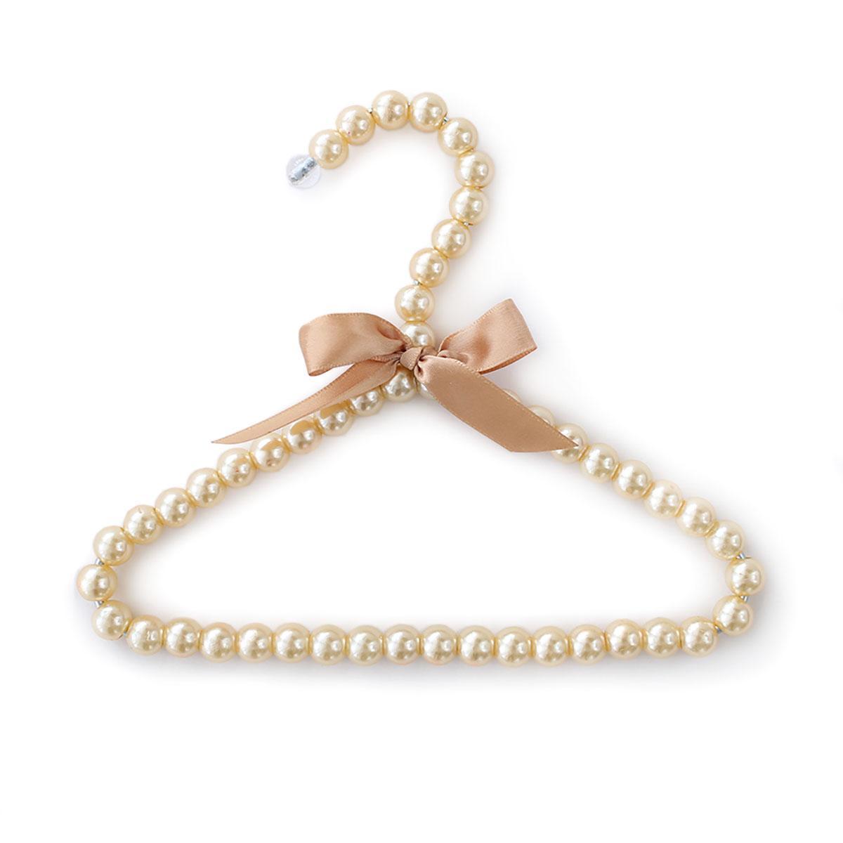 Hello Doggie Pearl Dog Fashion Hanger - Champagne