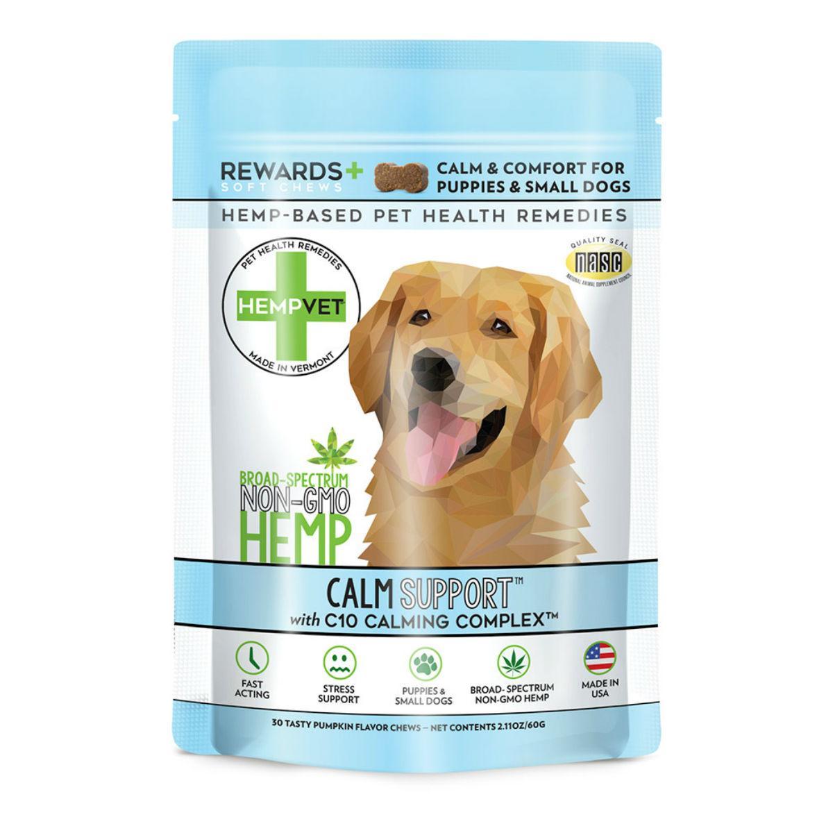 Calm Support Rewards Dog Supplement with CBD + C10 Calming Complex