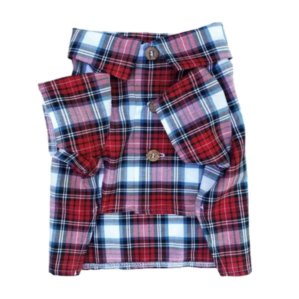 Patriotic Plaid Dog Shirt by Dog Threads