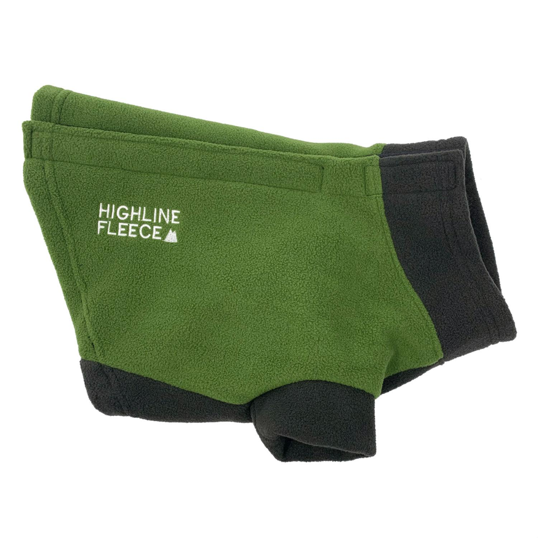 Highline Fleece Dog Coat by Doggie Design - Two Tone Green