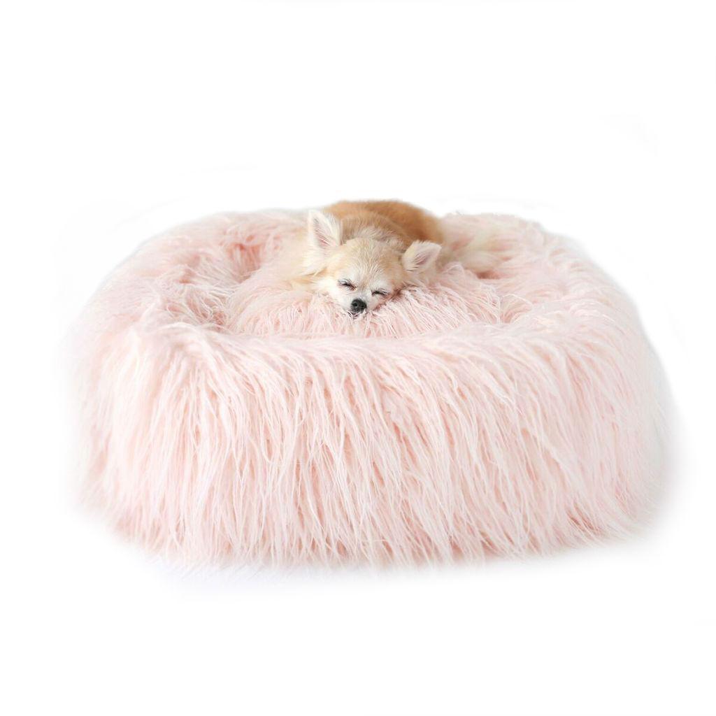 Himalayan Yak Dog Bed by Hello Doggie - Peach