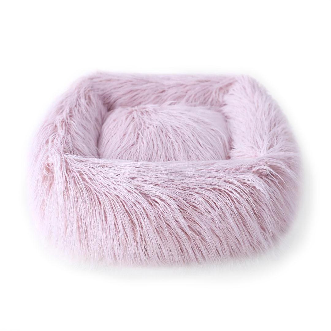 Himalayan Yak Dog Bed by Hello Doggie - Blush