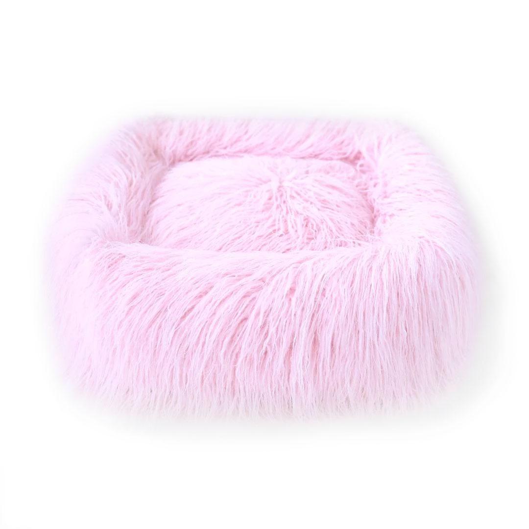 Himalayan Yak Dog Bed by Hello Doggie - Ballerina Pink