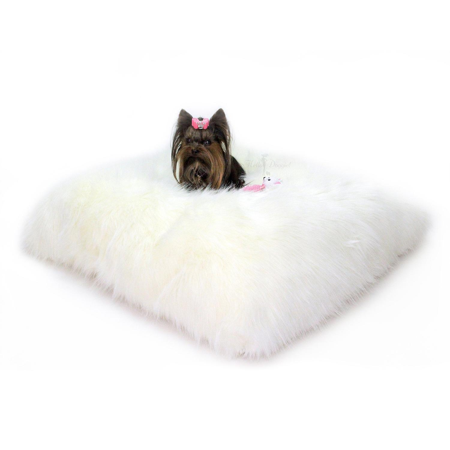 Arctic Dog Bed Mat by Hello Doggie - Ivory
