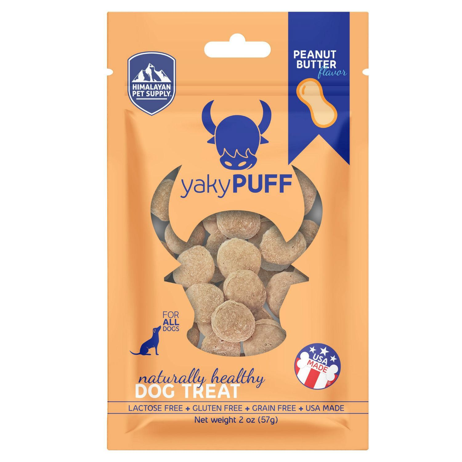 Himalayan Yaky Puff Dog Treat - Peanut Butter