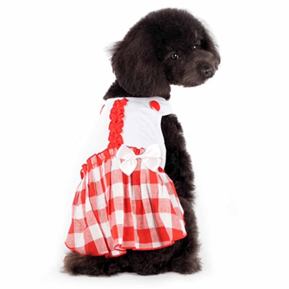 Hippie Country Plaid Dog Dress by Dogo