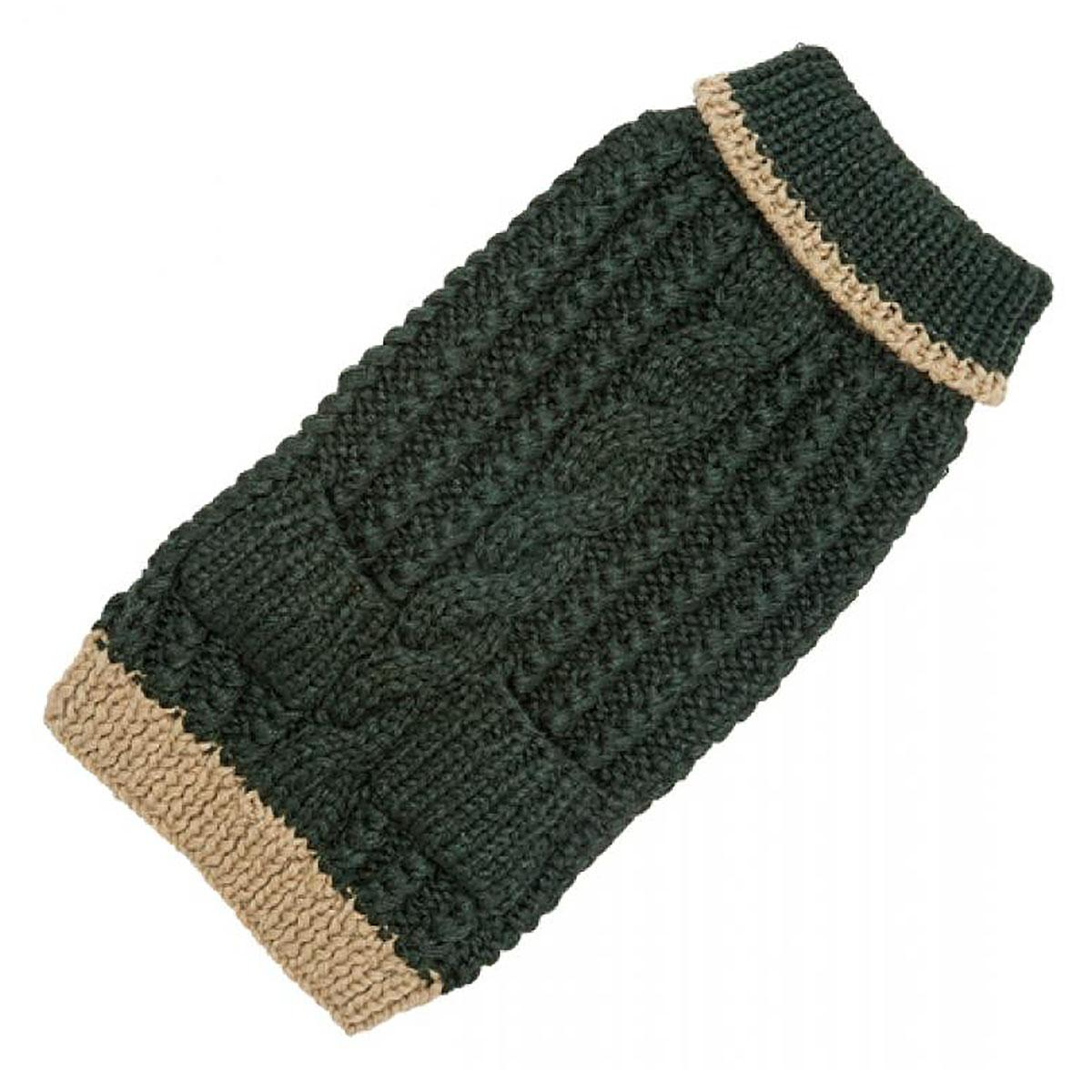 Hand Knit Dog Sweater by Up Country - Forest Classic Cable