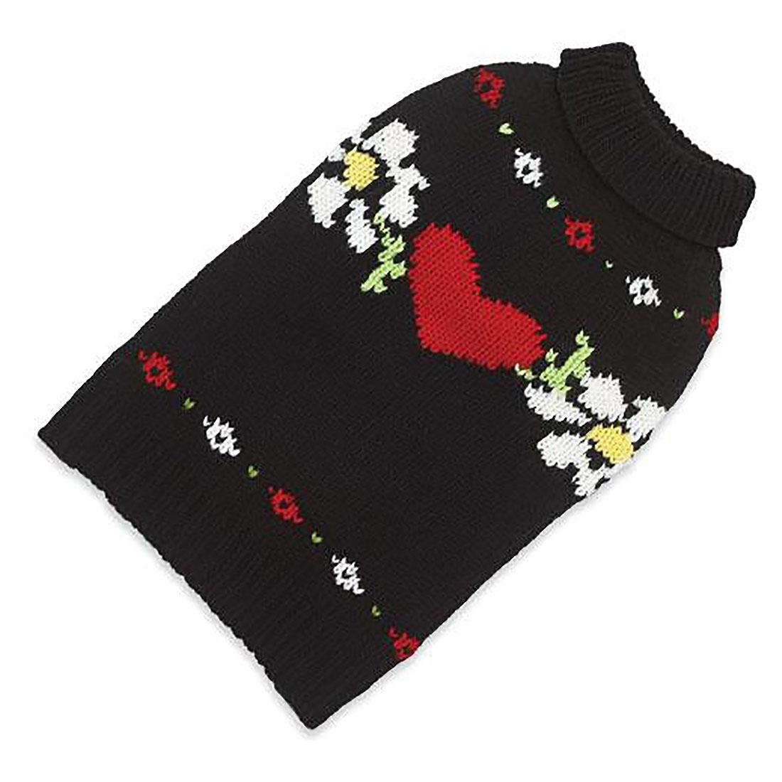 Hand Knit Dog Sweater by Up Country - Hearts and Flowers
