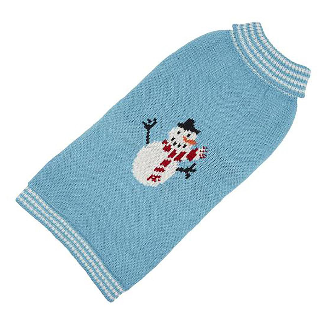Hand Knit Dog Sweater by Up Country - Snowman
