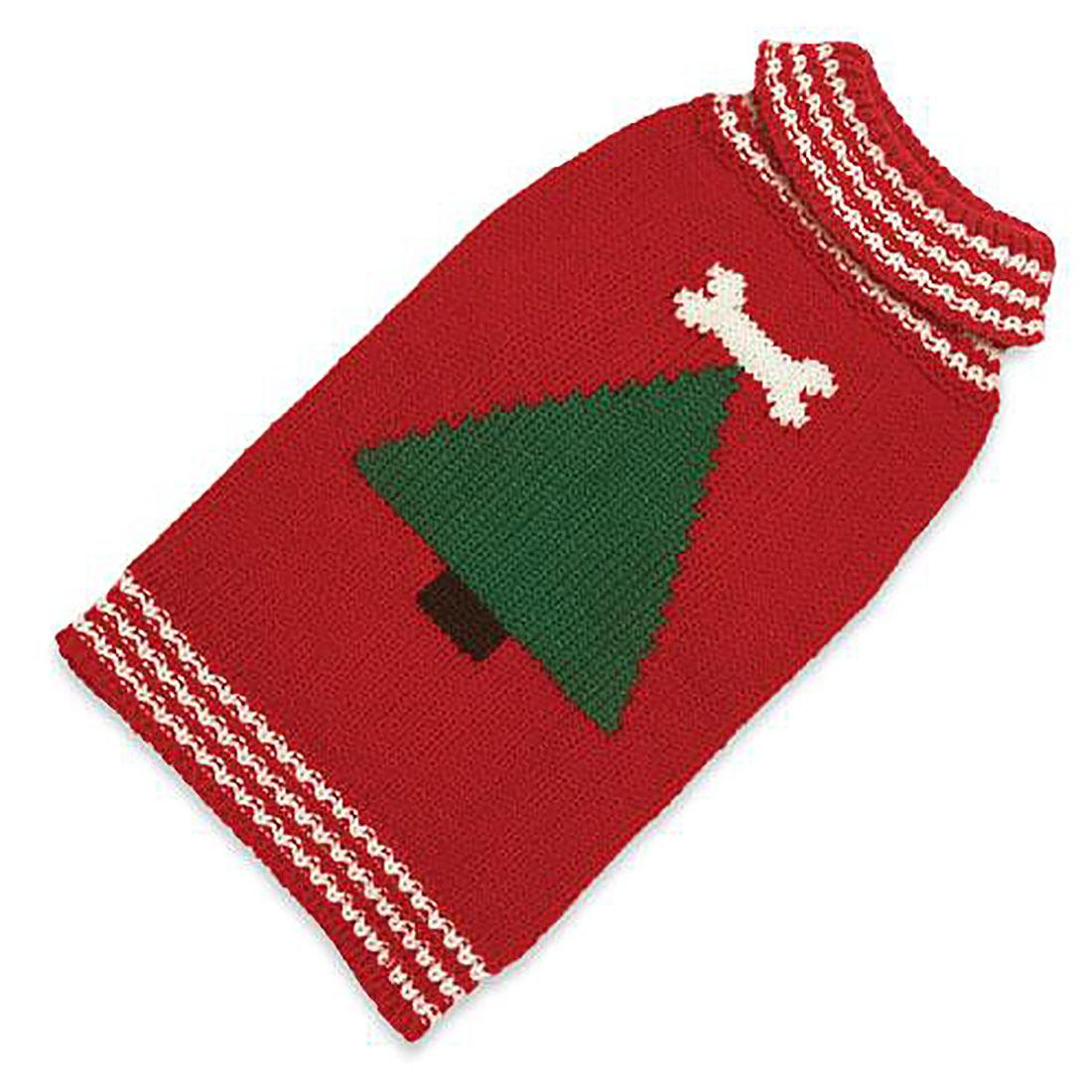 Hand Knit Dog Sweater by Up Country - Christmas Tree