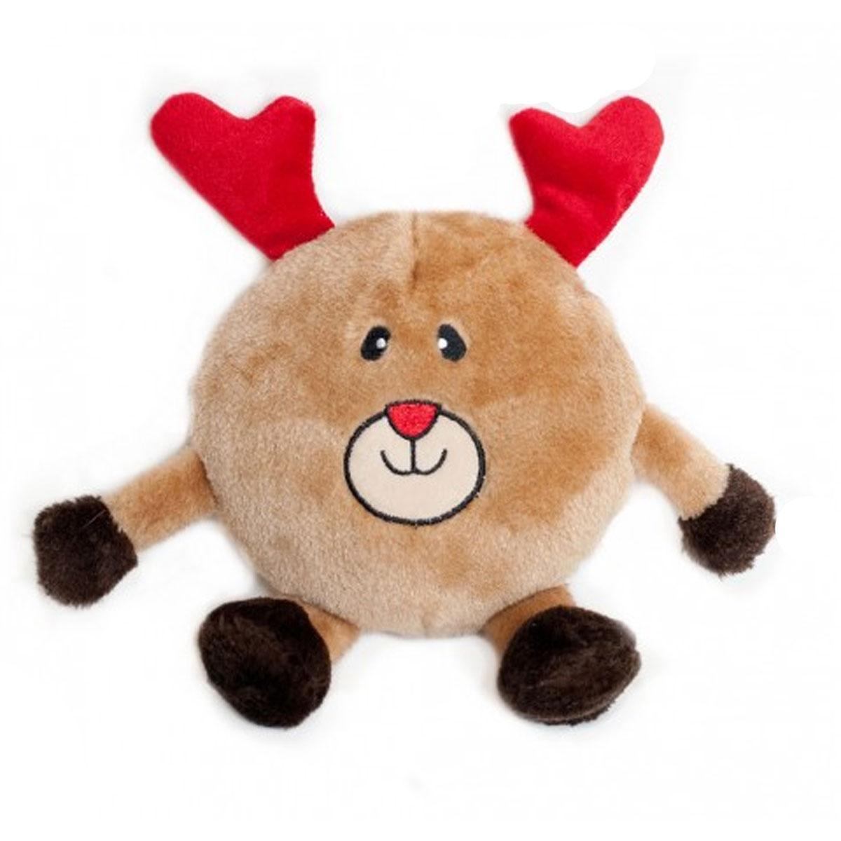 Holiday Brainey Dog Toy - Reindeer